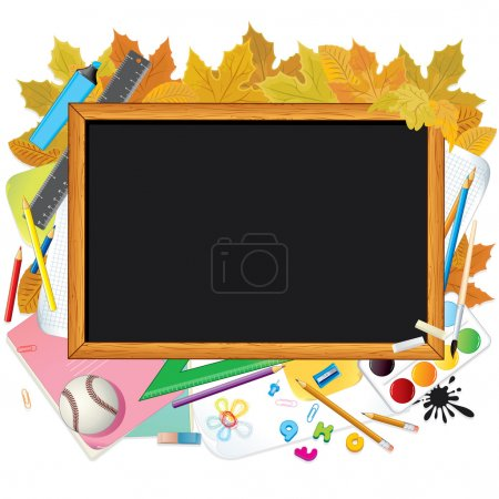 Illustration for Back to School. Vector Illustration with Space for Text - Royalty Free Image