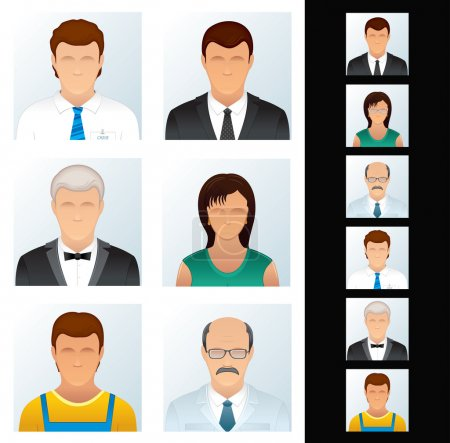 Icons Set. Various Business Peoples. Vector Clip Art