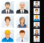 Icons Avatars of Various Occupations Vector Clip Art