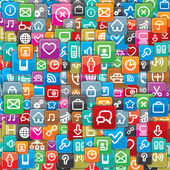 Pattern from a Different Apps Icons Vector