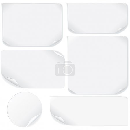 Illustration for Isolated Blank Paper Sheet. Vector Pack - Royalty Free Image
