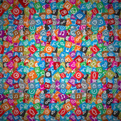 Messy Apps Pattern Random Multicolored Web Icons