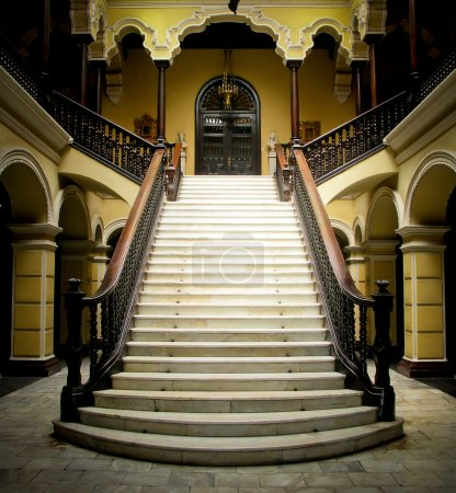 Photo for Colonial staircase at Archbishops Palace in Lima Peru - Royalty Free Image