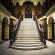 Colonial staircase at Archbishops Palace in Lima P...