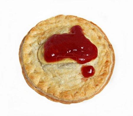 Australian Meat Pie and Sauce
