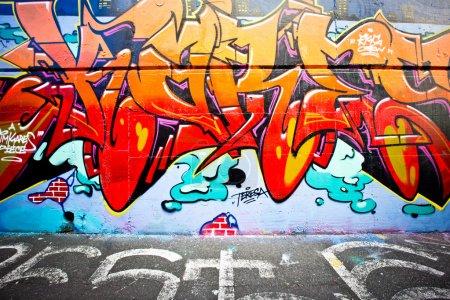 Photo pour Melbourne - 29 juin : Street art par l'artiste non identifié. Graffiti de Melbourne est célèbre dans le monde entier et son plan de gestion des graffitis reconnaît l'importance du street art à contribuer à une culture urbaine vibrante - image libre de droit