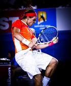 MELBOURNE, AUSTRALIA - JANUARY 22: Rafael Nadal of Spain in his win over Phillipp Kohlschreiber in the 2010 Australian Open