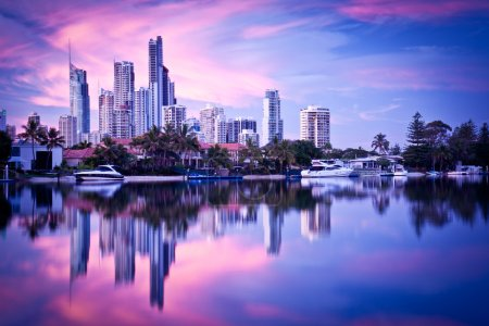 Surfers Paradise Skyline at Dawn