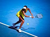 MELBOURNE, AUSTRALIA - JANUARY 23: Venus Williams during her thi