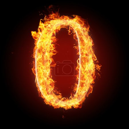 Fonts, numbers and symbols in fire for different purposes