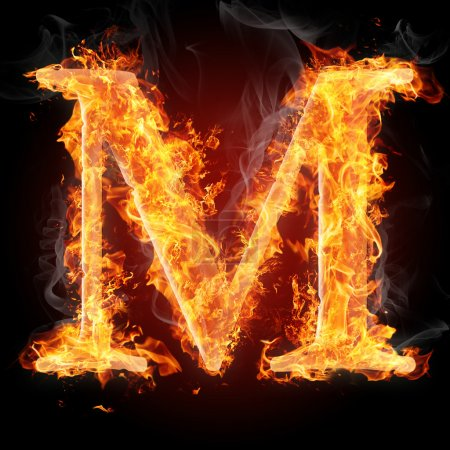 Buchstaben im Feuer - Buchstabe m
