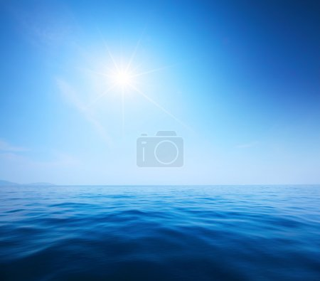 Blue calm sea and clear sky