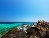 Tropical sea and rocks.