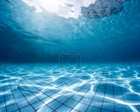 Photo for Underwater shot of the swimming pool - Royalty Free Image