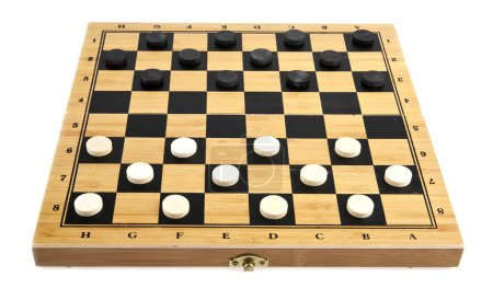 Checkers on a white background...