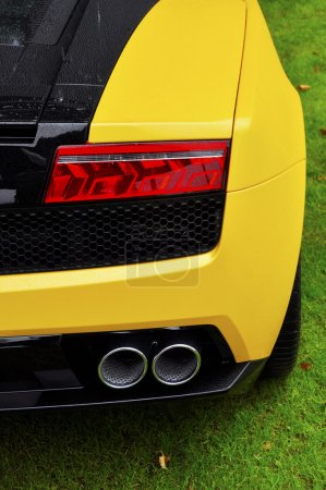 Rear detail of an Italian supercar