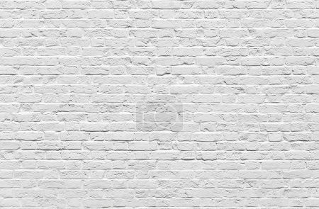Photo for White brick wall texture or background - Royalty Free Image