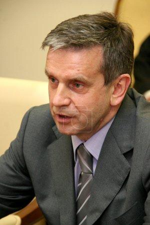 Photo pour ODESSA, UKRAINE - 19 mai 2010 : Mikhaïl Zurabov - Représentant spécial du Président de la Fédération de Russie à Odessa - 19 mai 2010 à Odessa, Ukraine - image libre de droit