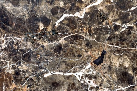 Photo for Brown natural marble . Beautiful multi-colored interior decorative stone marble abstract cracks and stains on the surface. - Royalty Free Image