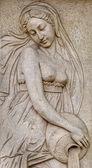 """Постер, картина, фотообои """"каменный фасад фреска украшения сцены из древнегреческих мифов"""""""