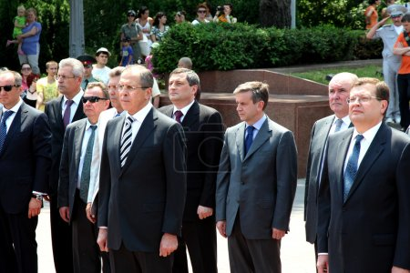 Odessa, Ukraine - June 4, 2011: Minister of Foreign Affairs of t