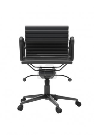Grey office chair isolated