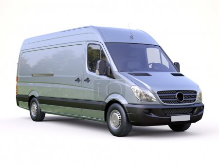Photo for Modern commercial van on a light background - Royalty Free Image
