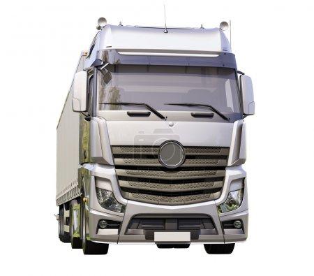 Semi-trailer truck isolated