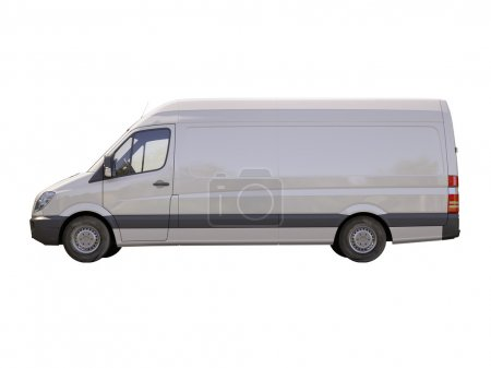Photo for Modern commercial van isolated on a white background - Royalty Free Image