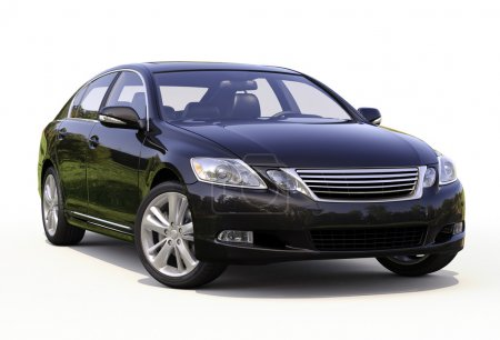 Photo for Modern luxury car on a light background - Royalty Free Image