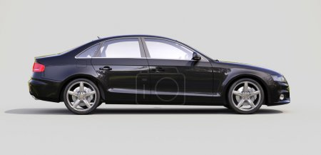 Photo for Modern luxury car on a gray background - Royalty Free Image