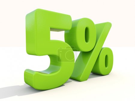 5 percentage rate icon on a white background