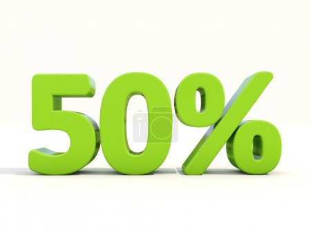 50 percentage rate icon on a white background