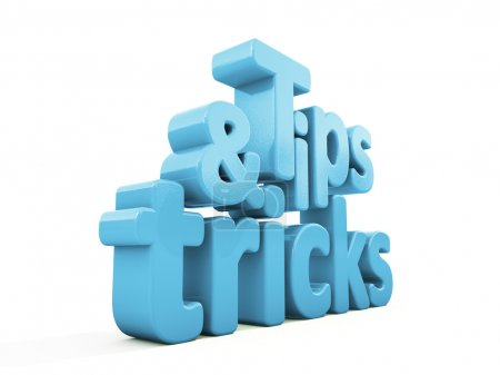 Photo for Tips and tricks icon on a white background. 3D illustration. - Royalty Free Image