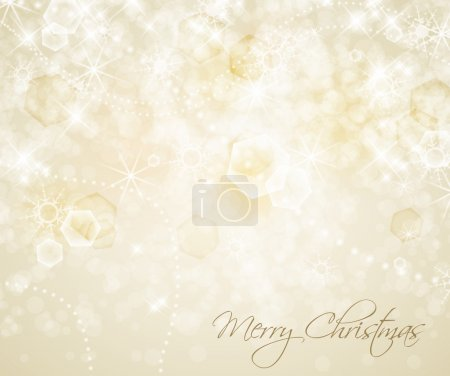 Abstract Christmas background with white snowflake...