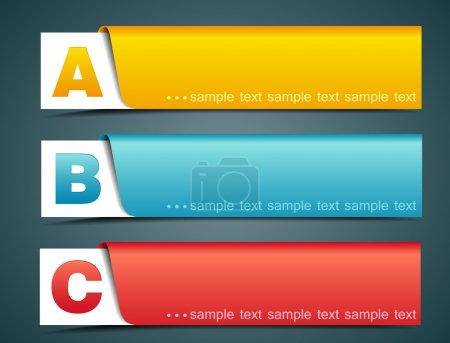 Illustration for Colorful options banner template, vector illustration - Royalty Free Image