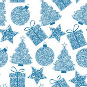 Christmas seamless patterns of Christmas decorations