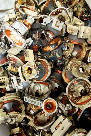 Television components e-waste for recycling
