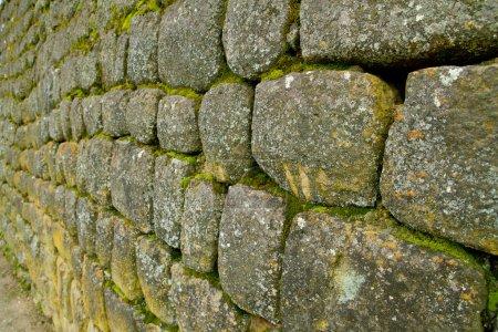 Stone wall in ancient ruins, Ecuador Ingapirca