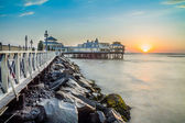 Lima, Peru, panoramic Beach sunset