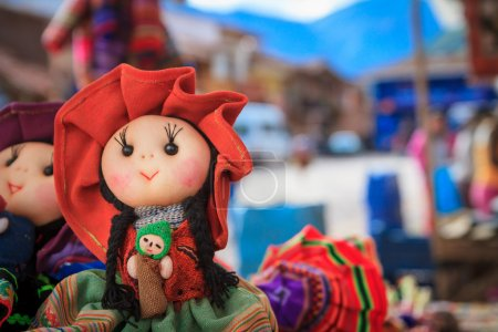 The traditional market of Pisac, Peru