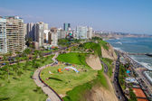 Aerial shot of Lima city, Peru