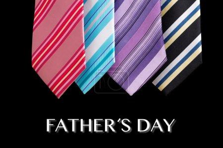 Foto de Padre feliz día corbata tarjeta de felicitación - Imagen libre de derechos