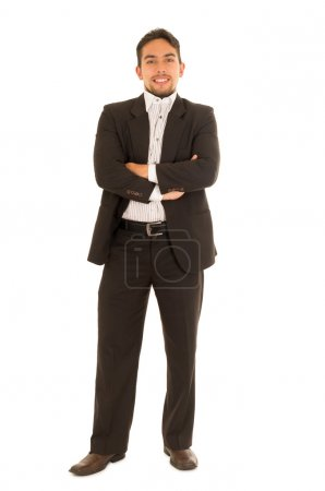 handsome young man in a suit posing