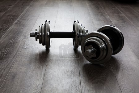 Photo for Two dumbbells for fitness - Royalty Free Image