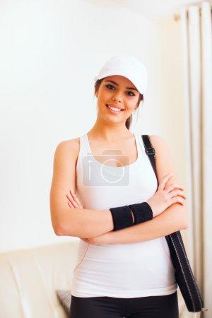 Young beautiful tennis woman
