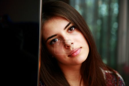 Photo for Closeup portrait of attractive woman - Royalty Free Image