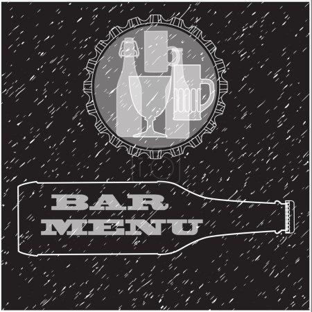Bar Menu card design template.