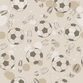 Background with footprint and ball