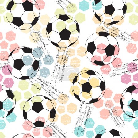 Background with print and soccer ball.